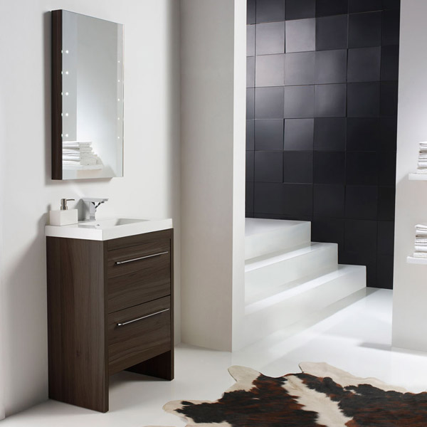 badm bel g ste wc waschbecken waschtisch handwaschbecken spiegel nordico 60cm ebay. Black Bedroom Furniture Sets. Home Design Ideas
