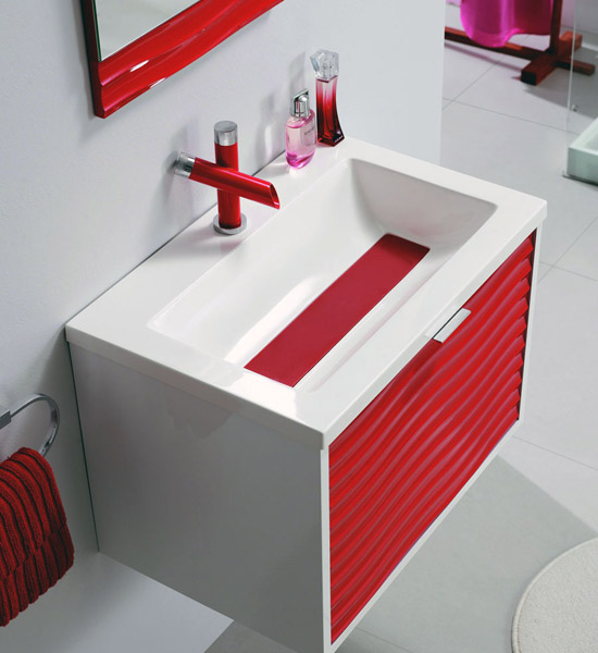 badm bel g ste wc praga waschbecken handwaschbecken rot schwarz weiss 60cm ebay. Black Bedroom Furniture Sets. Home Design Ideas
