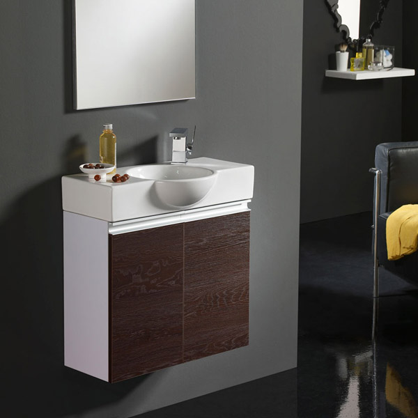 badm bel set g ste wc waschbecken waschtisch mit spiegel venezia 60cm ebay. Black Bedroom Furniture Sets. Home Design Ideas