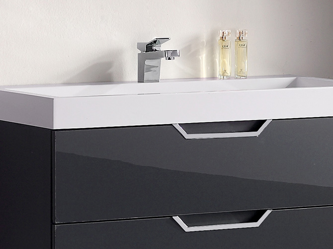 badm bel g ste wc waschbecken waschtisch spiegel antonella grau weiss 100cm ebay. Black Bedroom Furniture Sets. Home Design Ideas