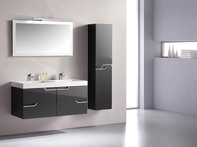 badm bel g ste wc waschbecken waschtisch spiegel antonella grau weiss 120cm ebay. Black Bedroom Furniture Sets. Home Design Ideas