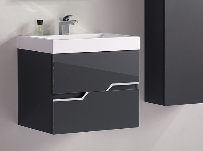 badm bel g ste wc waschbecken waschtisch spiegel antonella grau. Black Bedroom Furniture Sets. Home Design Ideas
