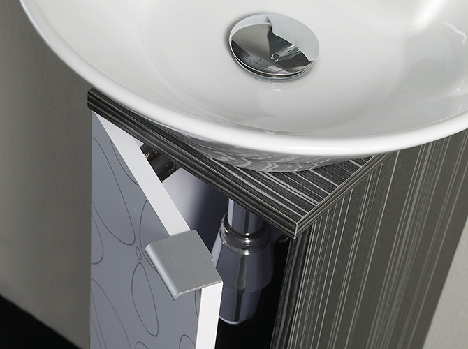 badm bel g ste wc waschbecken waschtisch handwaschbecken spiegel biarritz 20cm ebay. Black Bedroom Furniture Sets. Home Design Ideas