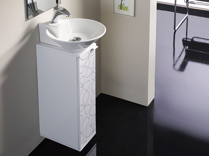 badm bel g ste wc waschbecken waschtisch handwaschbecken spiegel biarritz 20cm. Black Bedroom Furniture Sets. Home Design Ideas