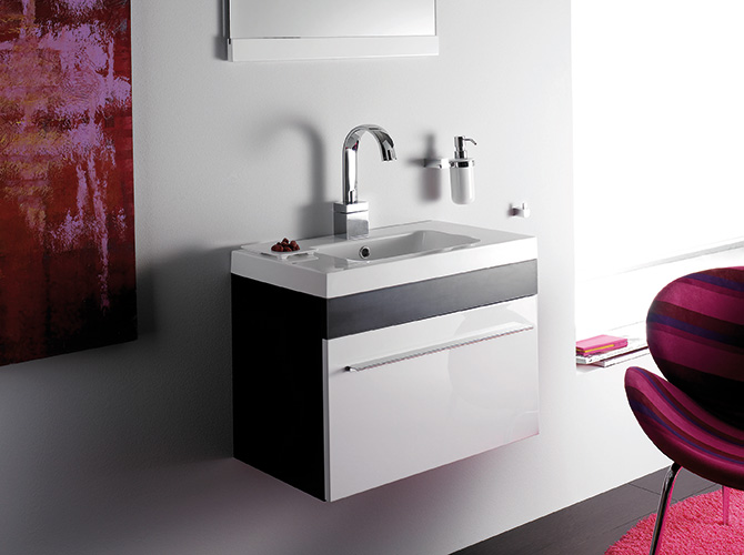 badm bel g ste wc waschbecken waschtisch mit spiegel bremen wenge kirsche 60cm ebay. Black Bedroom Furniture Sets. Home Design Ideas
