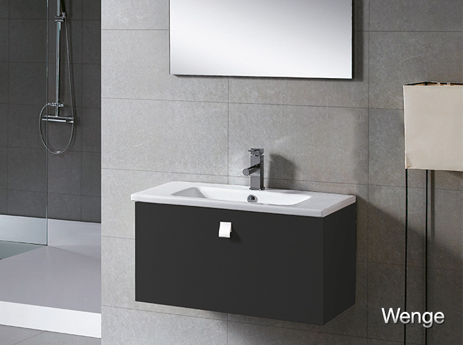 badm bel g ste wc waschbecken waschtisch spiegel california creme wenge 80cm ebay. Black Bedroom Furniture Sets. Home Design Ideas