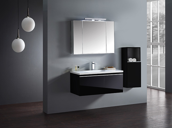 badm bel set g ste wc waschbecken waschtisch spiegelschrank cosma 100cm hlg ebay. Black Bedroom Furniture Sets. Home Design Ideas