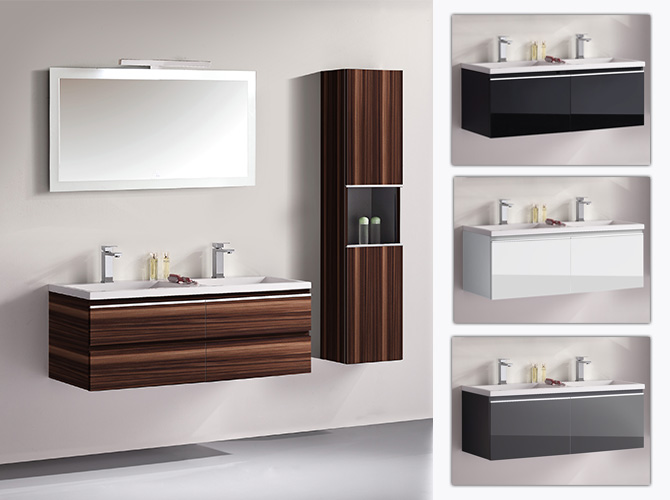 badm bel set g ste wc doppelwaschbecken waschtisch cosma schwarz weiss 120cm. Black Bedroom Furniture Sets. Home Design Ideas