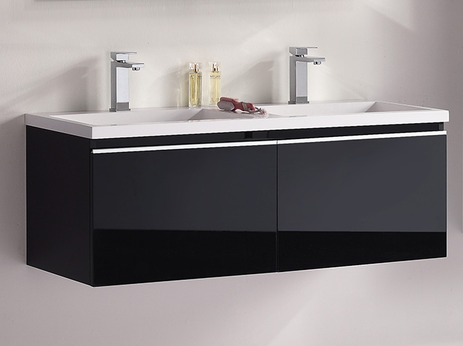 badm bel set g ste wc doppelwaschbecken spiegelschrank cosma weiss hgl 120cm. Black Bedroom Furniture Sets. Home Design Ideas