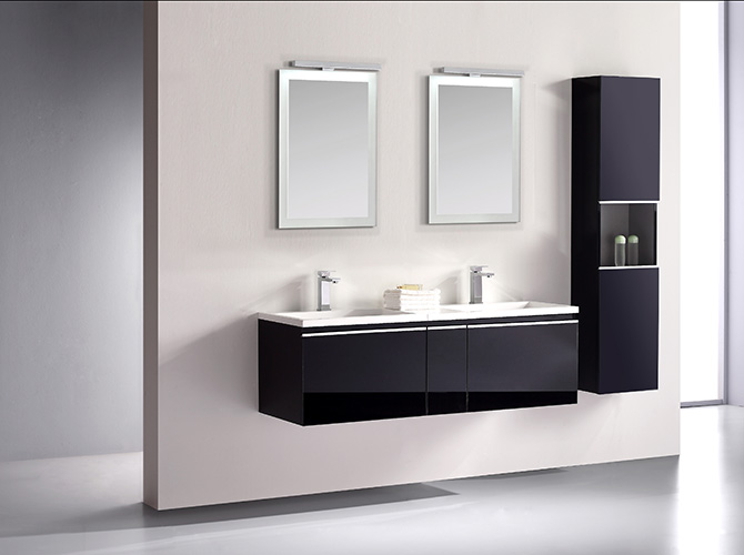 badm bel set g ste wc doppelwaschbecken inkl 2 spiegel cosma grau weiss 140cm ebay. Black Bedroom Furniture Sets. Home Design Ideas