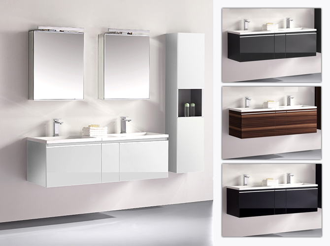 badm bel set g ste wc doppelwaschbecken inkl 2 x spiegelschrank cosma 140cm ebay. Black Bedroom Furniture Sets. Home Design Ideas