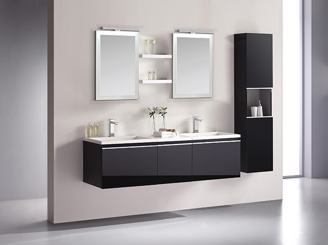 badm bel set g ste wc doppelwaschbecken inkl 2 spiegel cosma grau weiss 160cm ebay. Black Bedroom Furniture Sets. Home Design Ideas