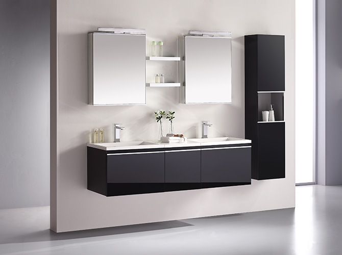 badm bel set g ste wc doppelwaschbecken inkl 2 x spiegelschrank cosma 160cm ebay. Black Bedroom Furniture Sets. Home Design Ideas