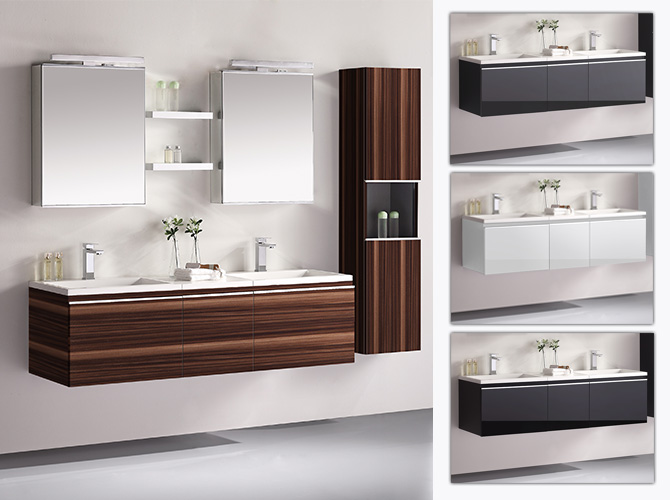 badm bel set g ste wc doppelwaschbecken inkl 2 x spiegelschrank. Black Bedroom Furniture Sets. Home Design Ideas