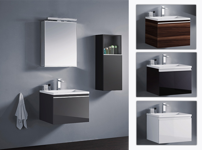 badm bel set g ste wc waschbecken waschtisch spiegelschrank cosma 60cm hlg ebay. Black Bedroom Furniture Sets. Home Design Ideas