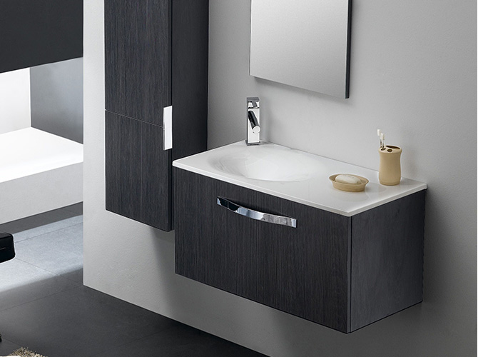 badm bel g ste wc waschbecken waschtisch spiegel florencia eiche wenge 80cm ebay. Black Bedroom Furniture Sets. Home Design Ideas