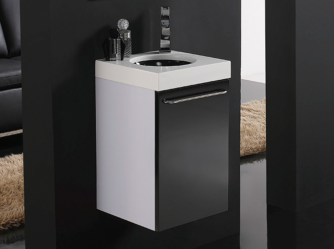 badm bel set g ste wc waschbecken waschtisch mit spiegel iris schwarz rot 35cm ebay. Black Bedroom Furniture Sets. Home Design Ideas