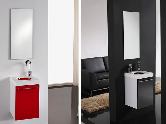 badm bel set g ste wc waschbecken waschtisch mit spiegel. Black Bedroom Furniture Sets. Home Design Ideas