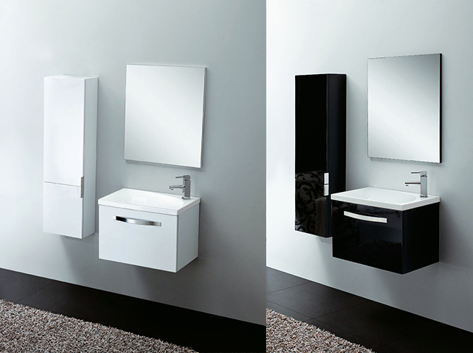 badm bel g ste wc waschbecken spiegel ontario weiss hgl. Black Bedroom Furniture Sets. Home Design Ideas