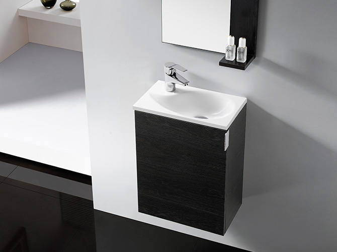 badm bel g ste wc oporto waschbecken waschtisch handwaschbecken wenge weiss 40 ebay. Black Bedroom Furniture Sets. Home Design Ideas