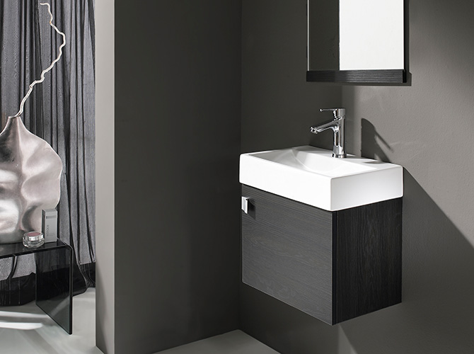 badm bel g ste wc waschbecken waschtisch handwaschbecken spiegel paris 45cm. Black Bedroom Furniture Sets. Home Design Ideas