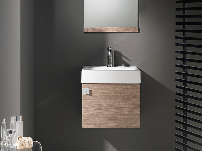 badm bel g ste wc waschbecken waschtisch handwaschbecken spiegel paris 45cm ebay. Black Bedroom Furniture Sets. Home Design Ideas