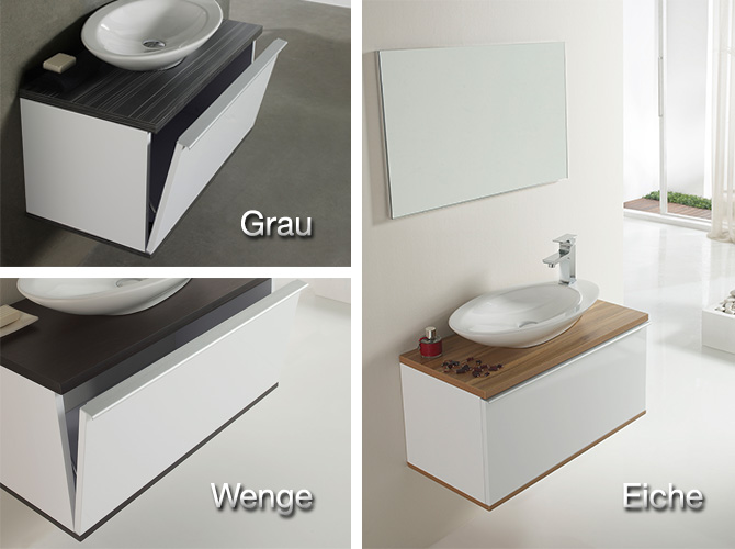 badm bel set g ste wc pure waschbecken handwaschbecken grau wenge eiche 80cm ebay. Black Bedroom Furniture Sets. Home Design Ideas