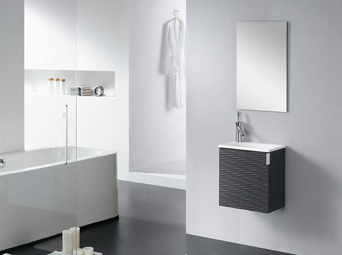 badm bel set g ste wc waschbecken waschtisch roma weiss schwarz 40cm. Black Bedroom Furniture Sets. Home Design Ideas
