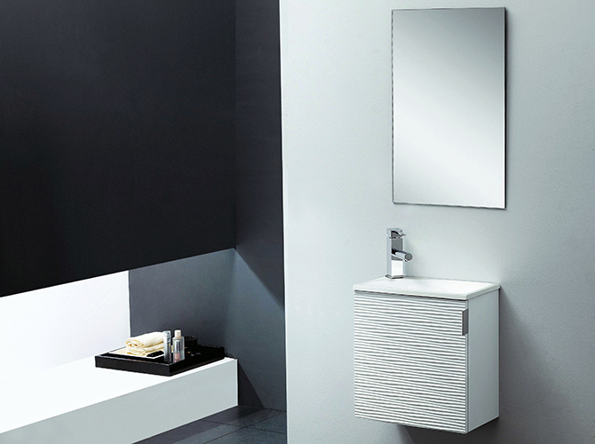 badm bel set g ste wc waschbecken waschtisch roma weiss schwarz 40cm ebay. Black Bedroom Furniture Sets. Home Design Ideas