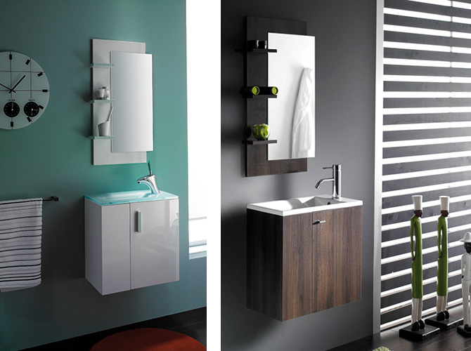 badm bel set g ste wc waschbecken waschtisch handwaschbecken spiegel top 50cm. Black Bedroom Furniture Sets. Home Design Ideas