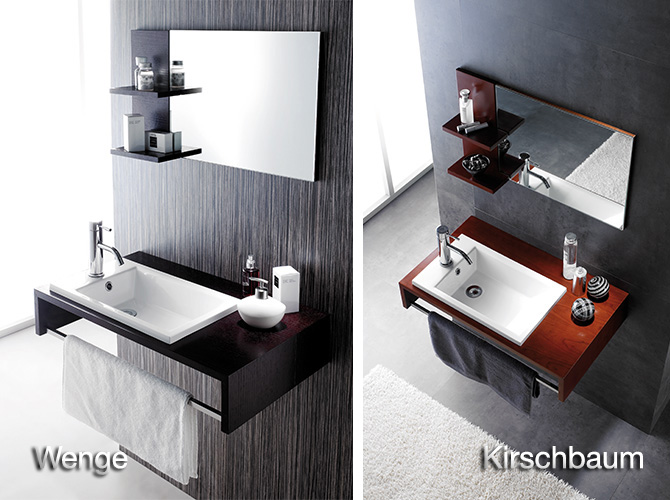 badm bel g ste wc top waschbecken waschtisch handwaschbecken wenge kirsche 75cm ebay. Black Bedroom Furniture Sets. Home Design Ideas