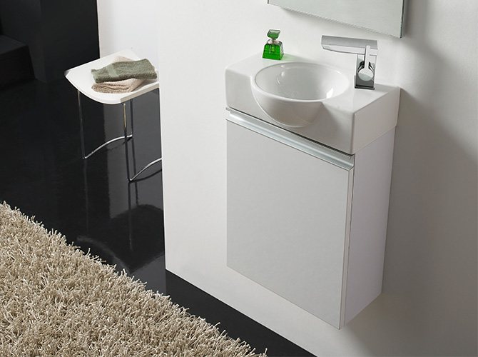badm bel set g ste wc waschbecken waschtisch mit spiegel venezia 40cm ebay. Black Bedroom Furniture Sets. Home Design Ideas