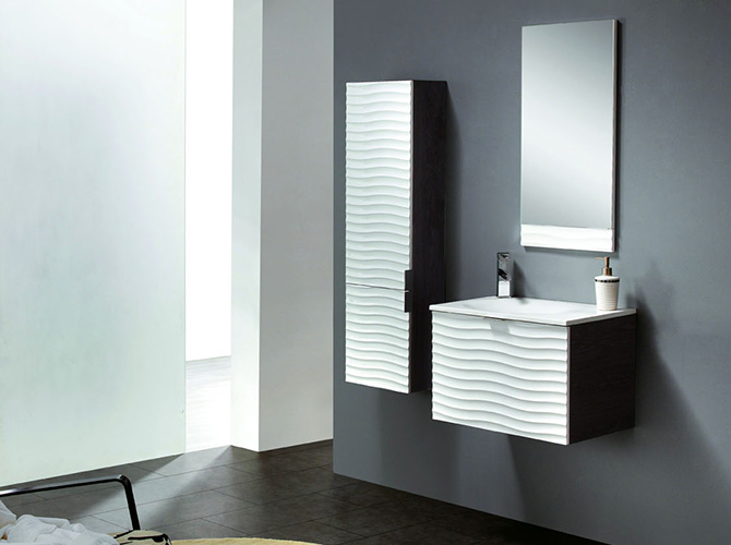 badm bel set g ste wc waschbecken handwaschbecken verona weiss wenge 80cm. Black Bedroom Furniture Sets. Home Design Ideas