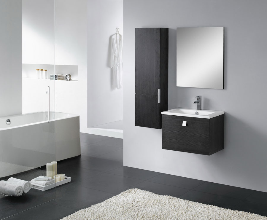 badm bel g ste wc waschbecken waschtisch spiegel california creme wenge 60cm ebay. Black Bedroom Furniture Sets. Home Design Ideas